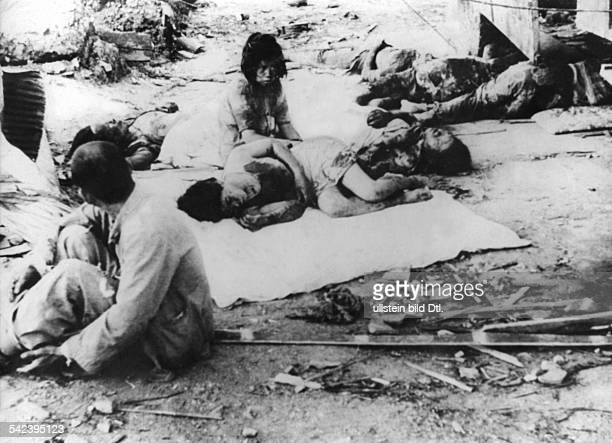 WORLD WAR II HIROSHIMA Wounded and dead in Hiroshima Japan shortly after the first atomic bomb exploded at the end of World War II 6 August 1945