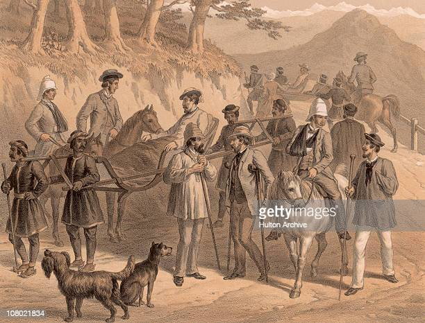 Wounded British officers at Simla later Shimla during the Indian Rebellion of 1857