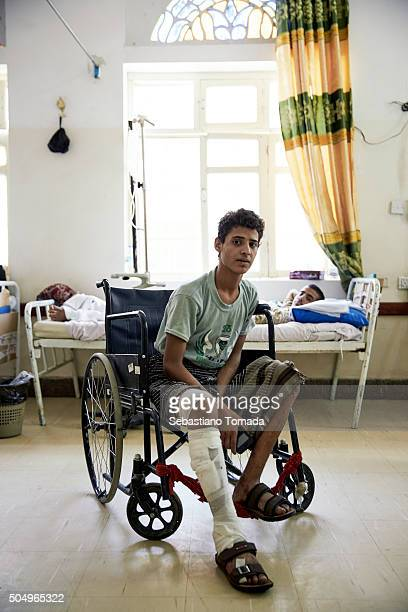 Wounded civilian at the Doctors Without Borders hospital in Sadah The Arab coalition has been carrying out air strikes on a daily basis in Yemen's...