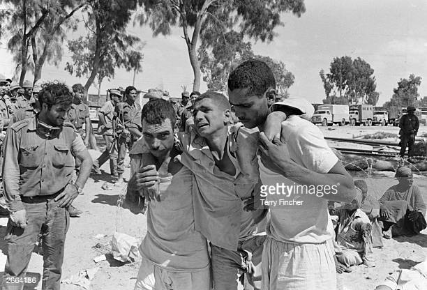 Wounded Egyptian soldiers captured by Israeli forces during the SixDay War
