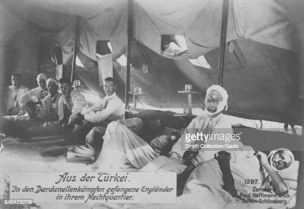 Wounded English prisoners of war in Turkey during World War I 1915 From the New York Public Library