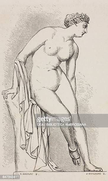 A wounded Eurydice with a serpent engraving from ParisGuide by leading writers and artists of France Volume 1 ScienceArt 1867
