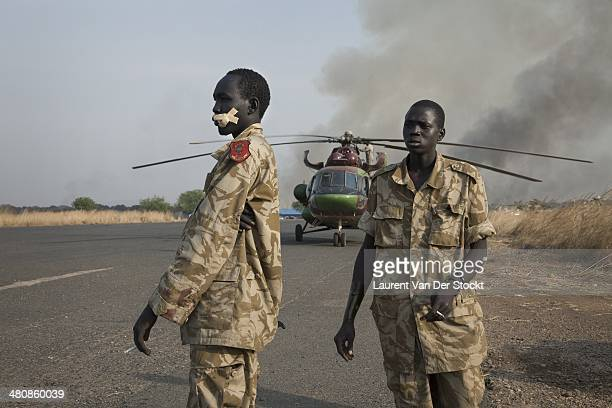 Wounded governmental army soldiers of the SPLA come back in Juba from Jonglei state by chopper Photograph by Laurent Van Der Stockt/Reportage By...