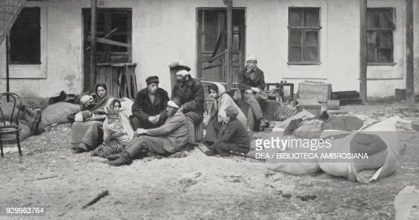 Wounded Jewish hiding in cellars to escape the massacre, Odessa, Ukraine, photograph by Tiraspolski, from L'Illustrazione Italiana, Year XXXII, No...