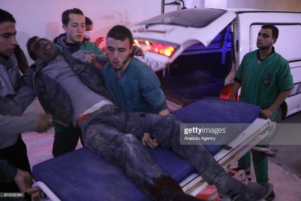 Assad regime's airstrikes hit civilians in Eastern Ghouta : News Photo