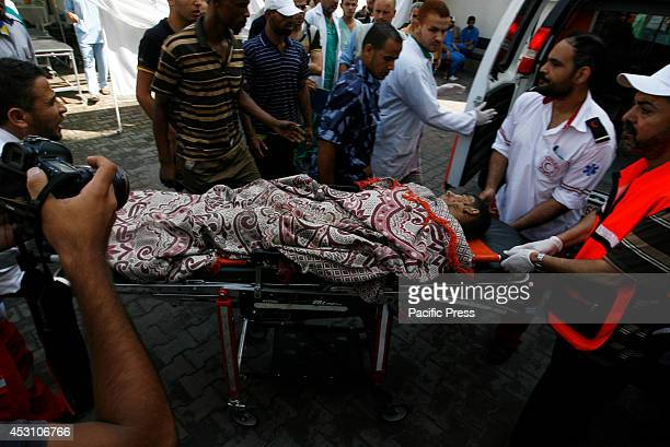 Wounded Palestinian man arrives at the al-Kuwaiti hospital after an Israeli air strike in Rafah, in the southern Gaza Strip. A fresh wave of violence...