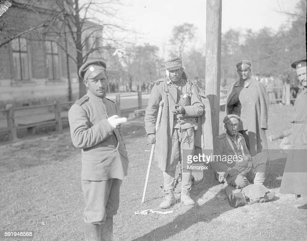 Wounded Russian and Austrian soldiers at Lemsberg September 1914
