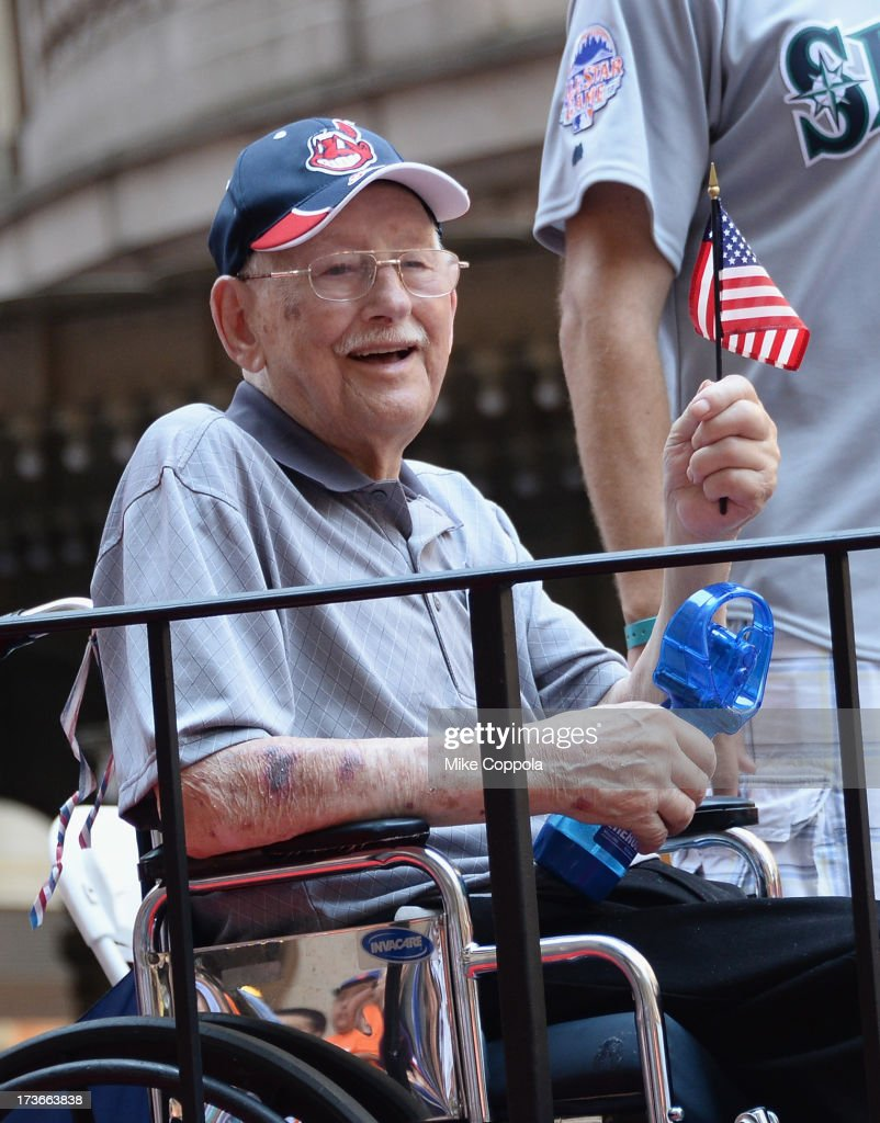 A Wounded Warrior passes by during the MLB All-Star Game Red Carpet Show on July 16, 2013 in New York City.
