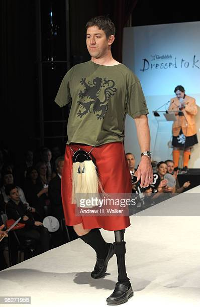 Wounded Warriors walk the runway at the 8th annual Dressed To Kilt Charity Fashion Show presented by Glenfiddich at M2 Ultra Lounge on April 5 2010...