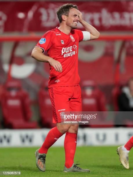 Wout Brama of FC Twente celebrates 3-0 during the Dutch Eredivisie match between Fc Twente v PEC Zwolle at the De Grolsch Veste on October 31, 2020...