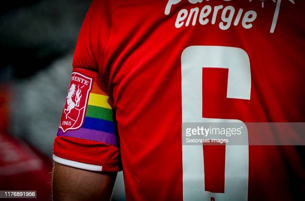 Wout Brama of FC Twente with rainbow captain band during the Dutch Eredivisie match between Fc Twente v Willem II at the De Grolsch Veste on October...