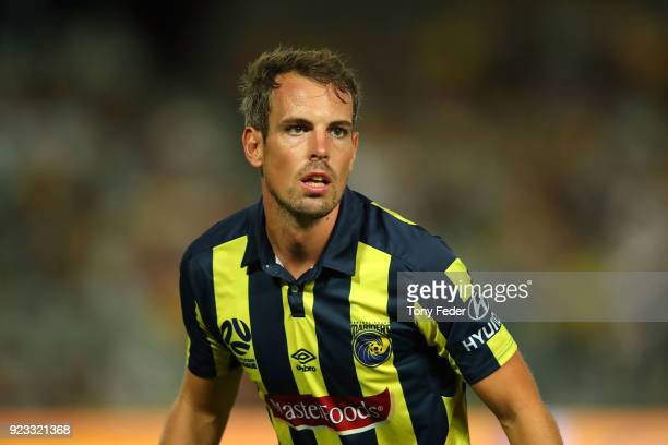 Wout Brama of the Mariners during the round 21 ALeague match between the Central Coast Mariners and the Wellington Phoenix at Central Coast Stadium...