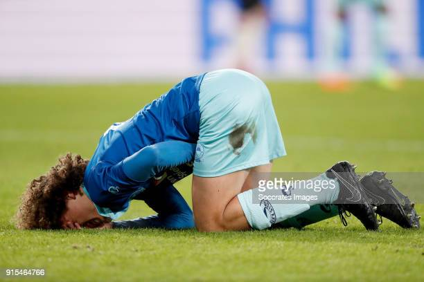 Wout Faes of Excelsior during the Dutch Eredivisie match between PSV v Excelsior at the Philips Stadium on February 7 2018 in Eindhoven Netherlands