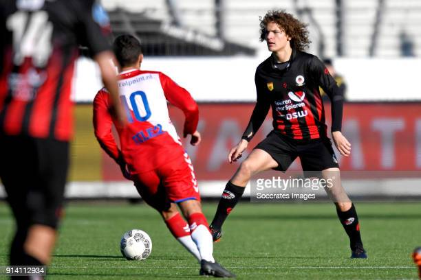 Wout Faes of Excelsior during the Dutch Eredivisie match between Excelsior v FC Utrecht at the Van Donge De Roo Stadium on February 4 2018 in...