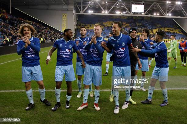 Wout Faes of Excelsior Jeffry Fortes of Excelsior Hicham Faik of Excelsior Mike van Duinen of Excelsior Ryan Koolwijk of Excelsior during the Dutch...