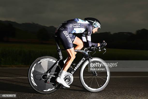 Wout Poels of Belgium and Omega PharmaQuickstep in action during the twelfth stage of the 2014 Giro d'Italia a 42km Individual Time Trial stage...