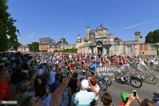 Wout Poels of The Netherlands and Team Sky / Anet City / Peloton / Fans / Public / Landscape / during the 105th Tour de France 2018 Stage 8 a 181km...