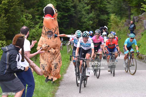 Wout Poels of The Netherlands and Team Sky / Christopher Froome of Great Britain and Team Sky / Simon Yates of Great Britain and Team...