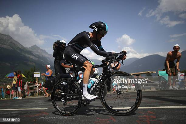 Wout Poels of the Netherlands and Team Sky in action during stage eighteen of the 2016 Le Tour de France from Sallanches to Megeve on July 21 2016 in...