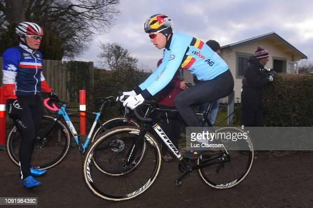 Wout Van Aert of Belgium and Team Belgium / during the 70th Cyclo-cross World Championships Bogense 2019 - Training / Cross Denmark / @Bogense2019 /...