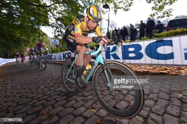 Wout Van Aert of Belgium and Team Jumbo - Visma / Cobblestones / during the 82nd Gent-Wevelgem In Flanders Fields 2020, Men Elite a 232,5km race from...