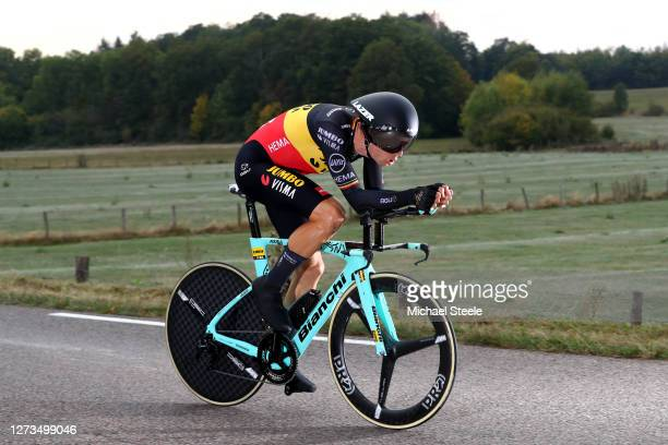 Wout Van Aert of Belgium and Team Jumbo - Visma / during the 107th Tour de France 2020, Stage 20 a 36,2km Individual Time Trial stage from Lure to La...