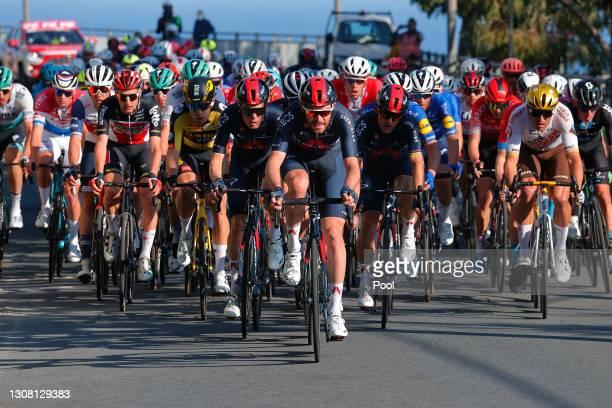 Wout Van Aert of Belgium and Team Jumbo - Visma, Dylan Van Baarle of Netherlands, Filippo Ganna of Italy, Michal Kwiatkowski of Poland and Team INEOS...