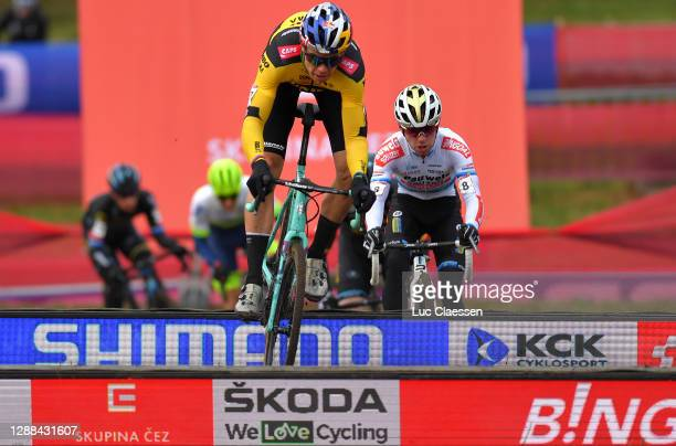 Wout Van Aert of Belgium and Team Jumbo - Visma / Eli Iserbyt of Belgium and Team Pauwels Sauzen - Bingoal / during the 24th Tabor World Cup 2020 -...