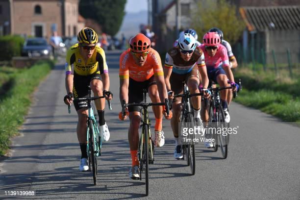 Wout Van Aert of Belgium and Team Jumbo - Visma / Greg Van Avermaet of Belgium and Ccc Team / Oliver Naesen of Belgium and Team Ag2R La Mondiale /...