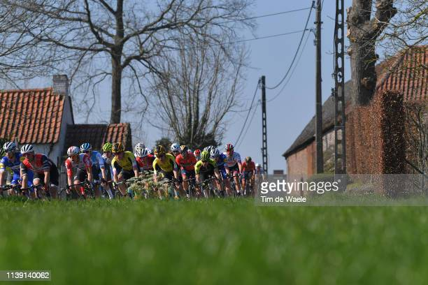 Wout Van Aert of Belgium and Team Jumbo - Visma / Landscape / Peloton / during the 62nd E3 Harelbeke 2019 a 203,9km race from Harelbeke to Harelbeke...