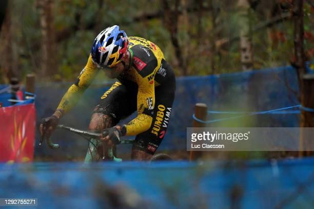 Wout Van Aert of Belgium and Team Jumbo - Visma / Mud / during the 37th Herentals Azencross 2020 - Men Elite/ CX / #DVVTrofee #Azencross / on...