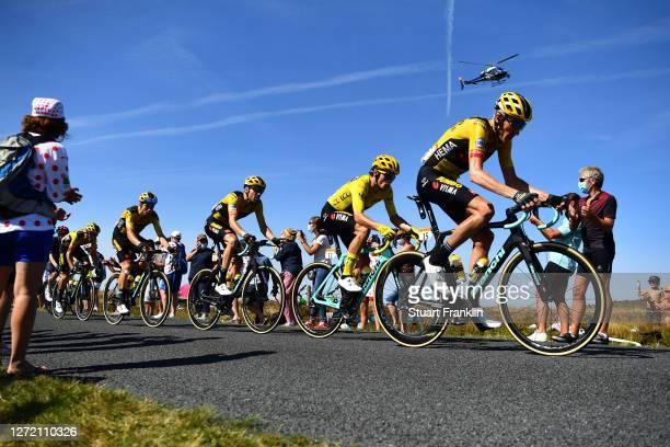Wout Van Aert of Belgium and Team Jumbo - Visma / Tom Dumoulin of The Netherlands and Team Jumbo - Visma / Primoz Roglic of Slovenia and Team Jumbo -...