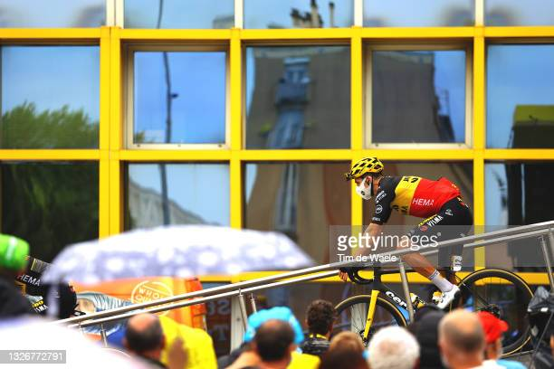 Wout Van Aert of Belgium and Team Jumbo-Visma at start during the 108th Tour de France 2021, Stage 8 a 150,8km stage from Oyonnax to Le Grand-Bornand...