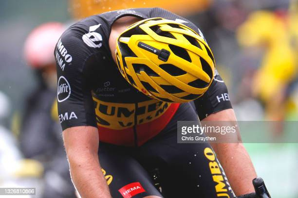 Wout Van Aert of Belgium and Team Jumbo-Visma disappointment at arrival during the 108th Tour de France 2021, Stage 8 a 150,8km stage from Oyonnax to...
