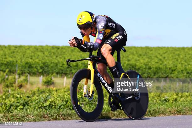 Wout Van Aert of Belgium and Team Jumbo-Visma during the 108th Tour de France 2021, Stage 20 a 30,8km Individual Time Trial Stage from Libourne to...