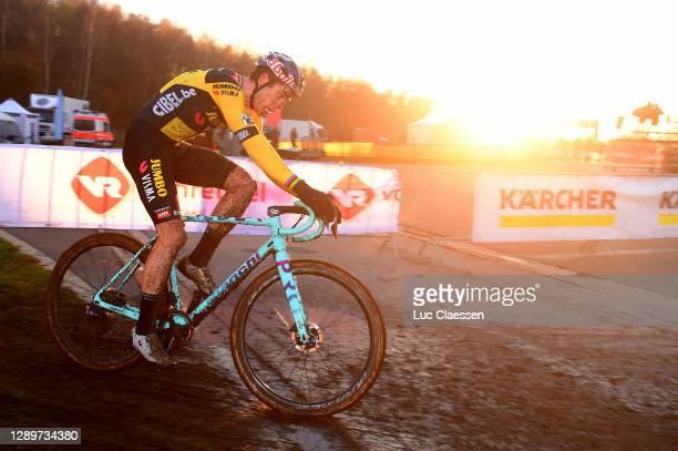 Wout Van Aert of Belgium and Team Jumbo-Visma / during the 6th Superprestige Cyclocross Boom 2020, Men Elite / De Schorre Boom / #Superprestige2021 /...