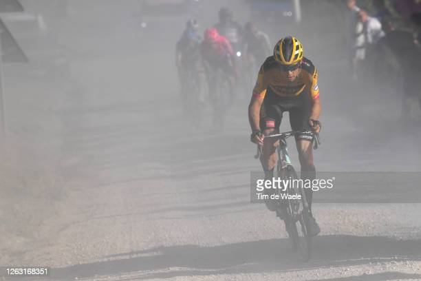 Wout van Aert of Belgium and Team Jumbo-Visma / Dust / during the Eroica - 14th Strade Bianche 2020 - Men a 184km race from Siena to Siena-Piazza del...