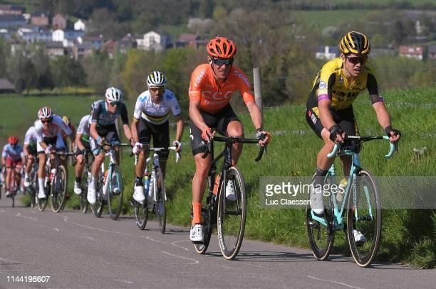 Wout Van Aert of Belgium and Team JumboVisma / Serge Pauwels of Belgium and CCC Team / Alejandro Valverde Belmonte of Spain and Movistar Team /...