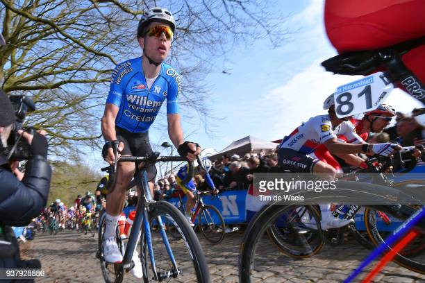 Wout Van Aert of Belgium And Team Veranda's Willems Crelan / during the 80th GentWevelgem In Flanders Fields 2018 a 2508km race from Deinze to...