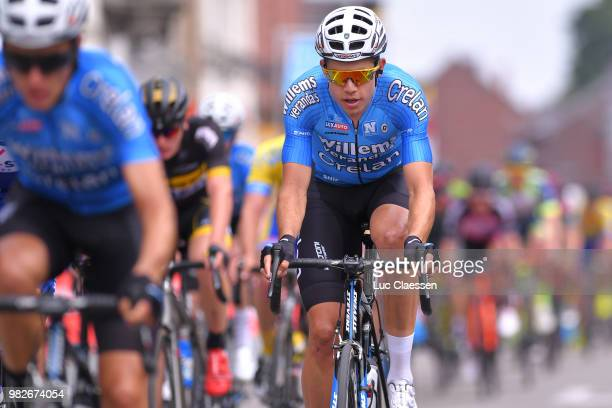 Wout Van Aert of Belgium and Verandas WillemsCrelan Team / during the 119th Belgian Road Championship 2018 Elite Men a 2236km race from Binche to...