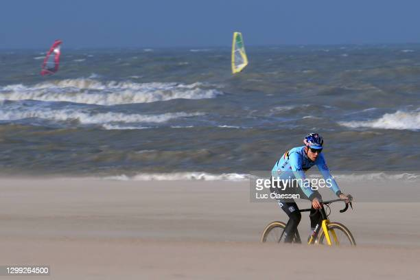 Wout Van Aert of Belgium / Beach / during the 72nd UCI Cyclo-Cross World Championships Oostende 2021, Training / @UCI_CX / #CXWorldCup / #Ostend2021...