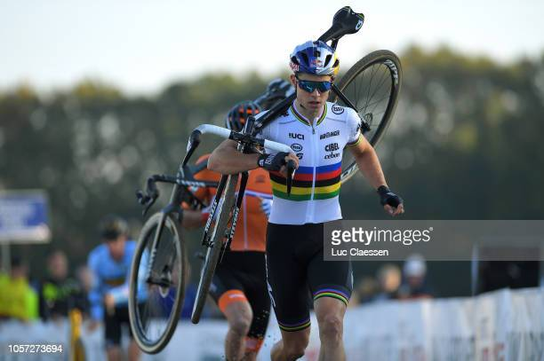 Wout Van Aert of Belgium / during the 16th UEC European Cyclo-cross Championships 2018 - Men Elite on November 4, 2018 in Rosmalen, Netherlands.