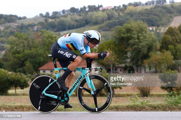 Wout Van Aert of Belgium / during the 93rd UCI Road World Championships 2020, Men Elite Individual Time Trial a 31,7km race from Imola to Imola -...