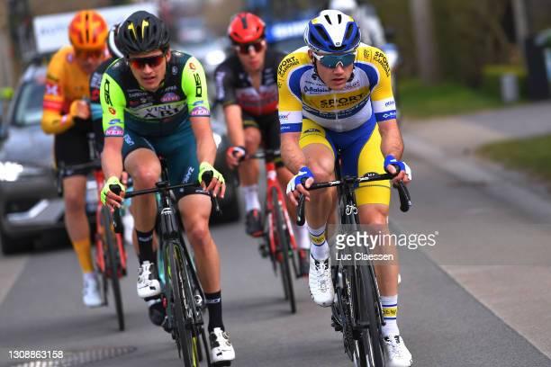Wout Van Elzakker of Netherlands and Team Vini Zabu' Brado KTM & Ruben Apers of Belgium and Team Sport Vlaanderen - Baloise during the 45th Oxyclean...