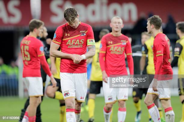 Wout Weghorst of AZ Alkmaar during the Dutch Eredivisie match between AZ Alkmaar v Roda JC at the AFAS Stadium on February 4 2018 in Alkmaar...