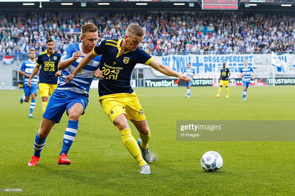 Wouter Marinus Of Pec Zwolle Sjoerd Overgoor Of Sc Cambuur During News Photo Getty Images