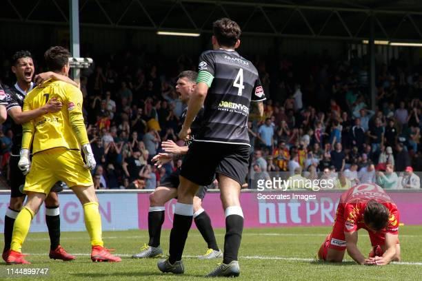 Wouter van der Steen of FC Den Bosch stopped penalty and Paco van Moorsel of Go Ahead Eagles missed during the Dutch Keuken Kampioen Divisie match...
