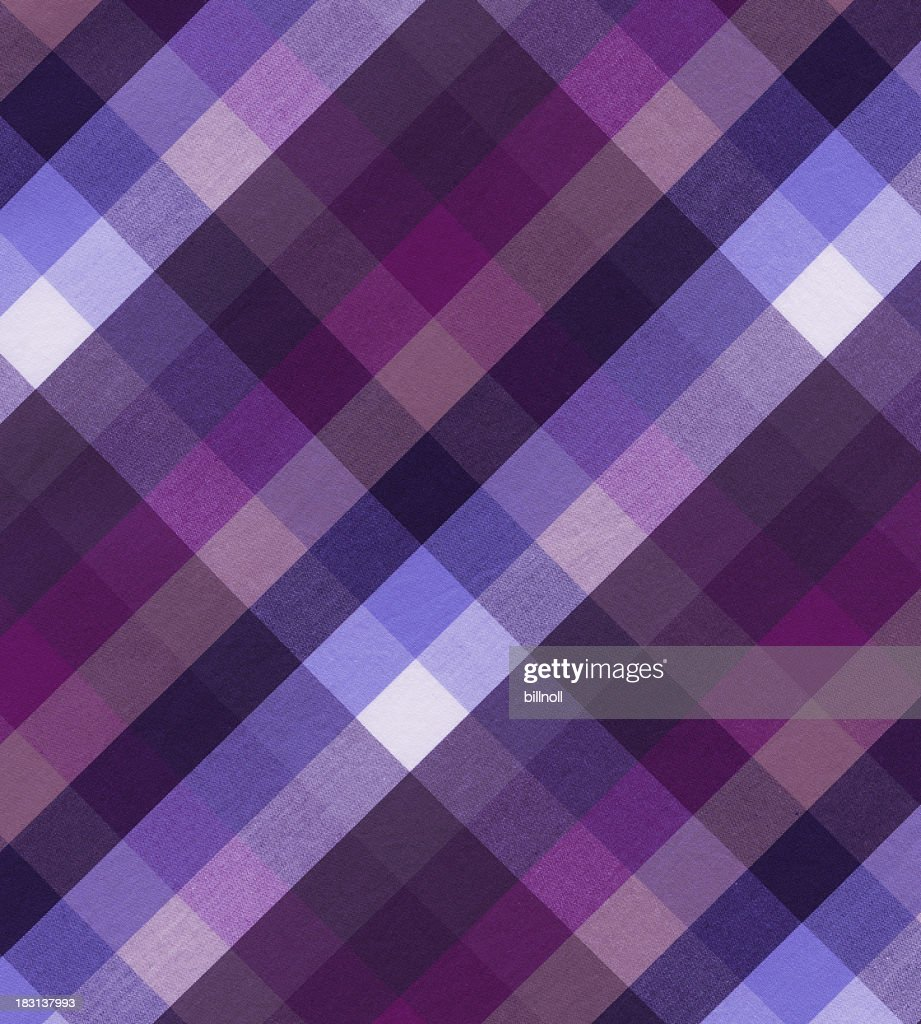 woven cotton fabric with plaid pattern : Stock Photo