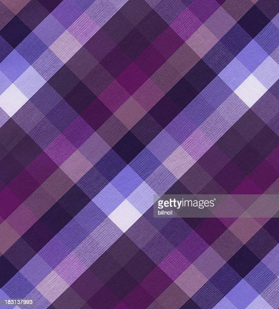 woven cotton fabric with plaid pattern - plaid stock pictures, royalty-free photos & images