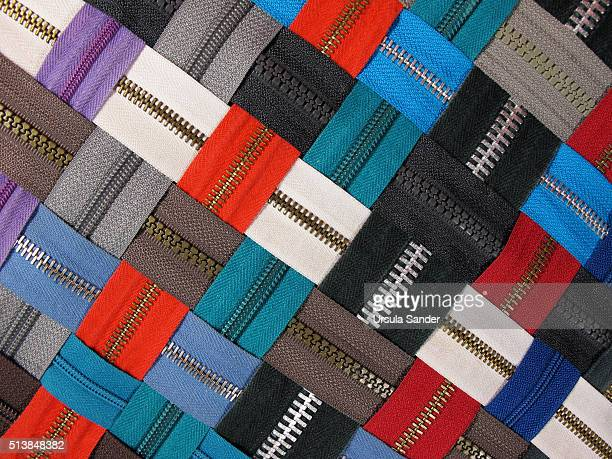 Woven pattern with zippers
